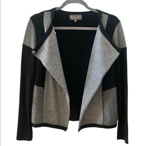 Michael Stars | Black and Grey Paneled Snap Jacket